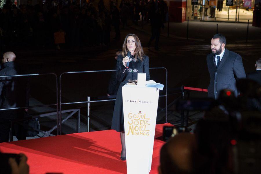 La princesse Marie de Danemark donne le top départ du Noël danois du BHV Marais à Paris, le 15 novembre 2017