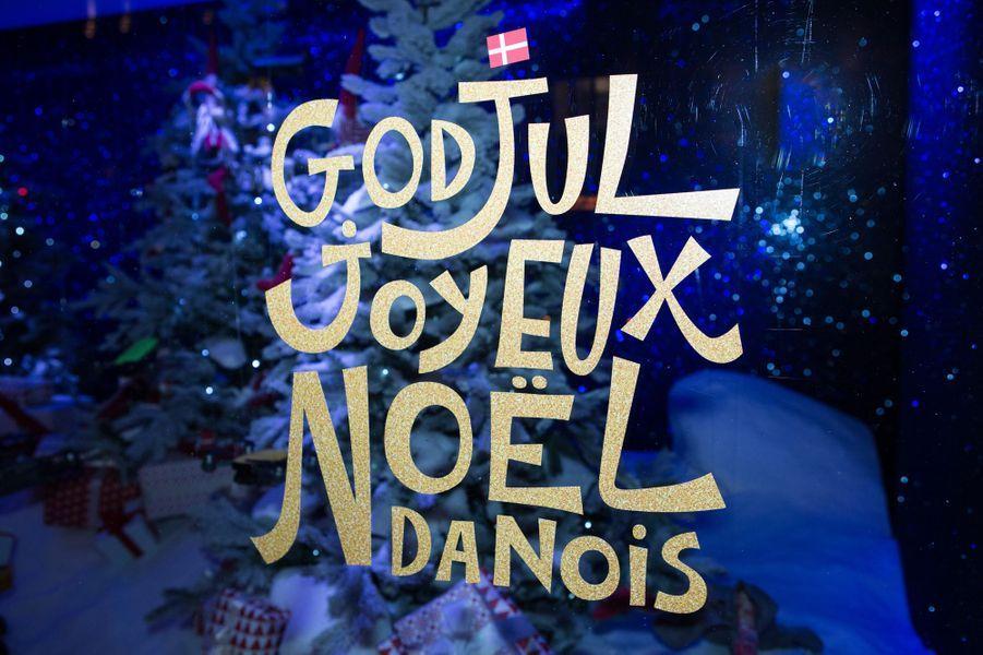 Joyeux Noël en danois au BHV Marais à Paris, le 15 novembre 2017