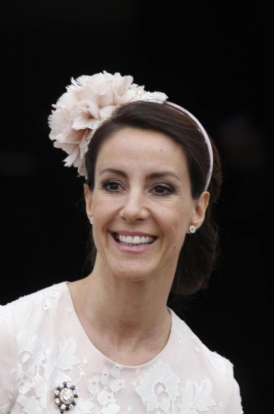 La princesse Marie de Danemark à Fredensborg, le 1er avril 2017