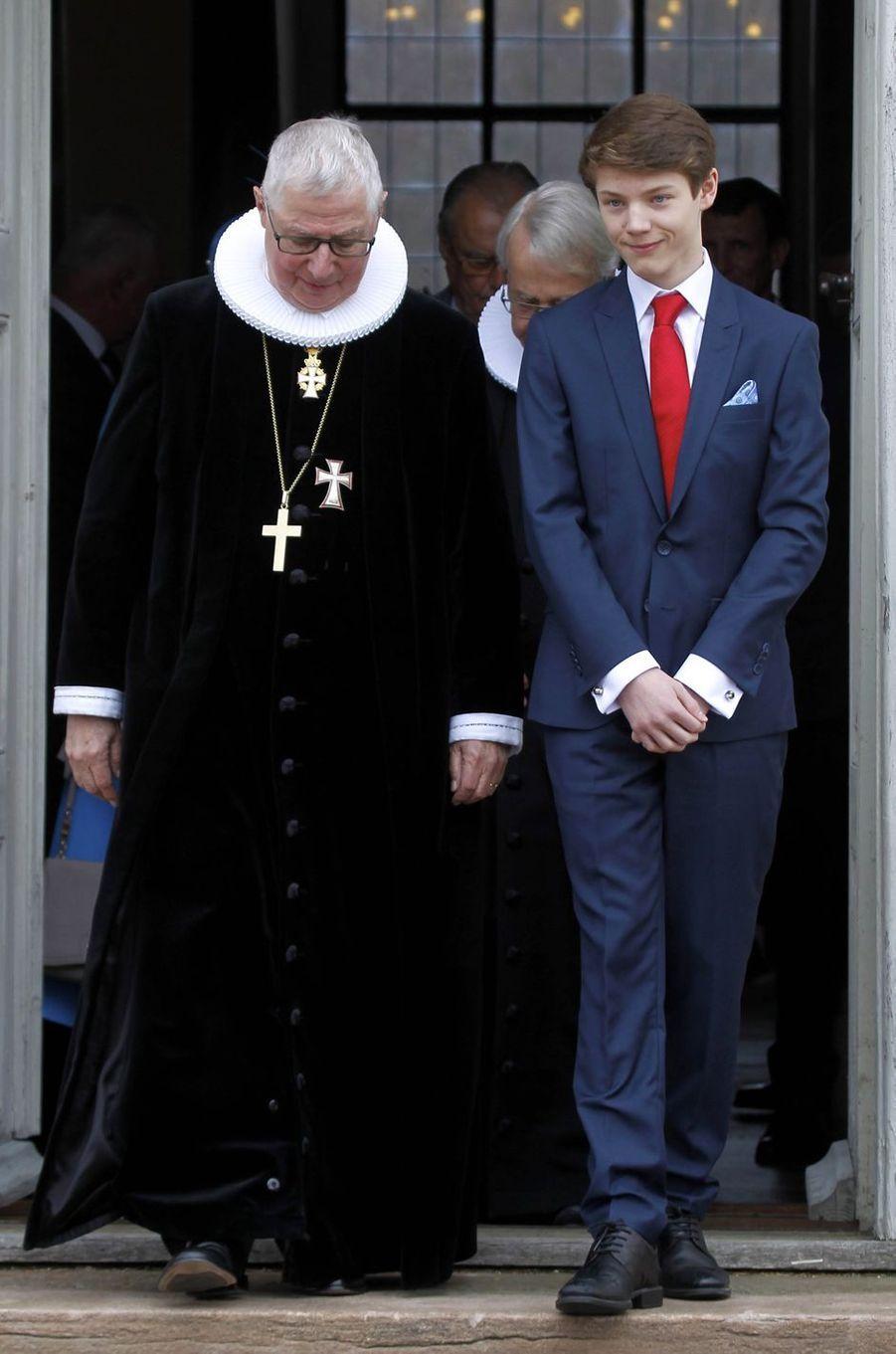 Le prince Felix de Danemark à Fredensborg, le 1er avril 2017