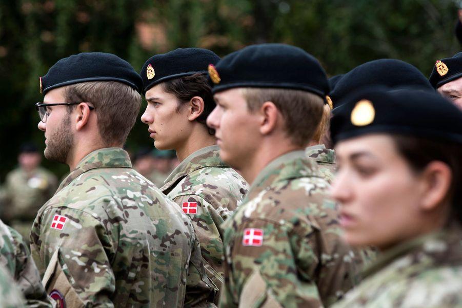Le prince Nikolai de Danemark à l'école militaire de Varde, le 15 août 2018