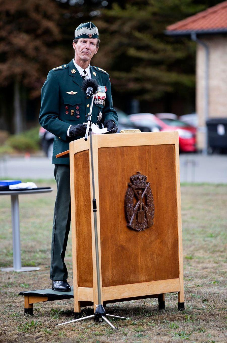 Le prince Joachim de Danemark à l'école militaire de Varde, le 15 août 2018