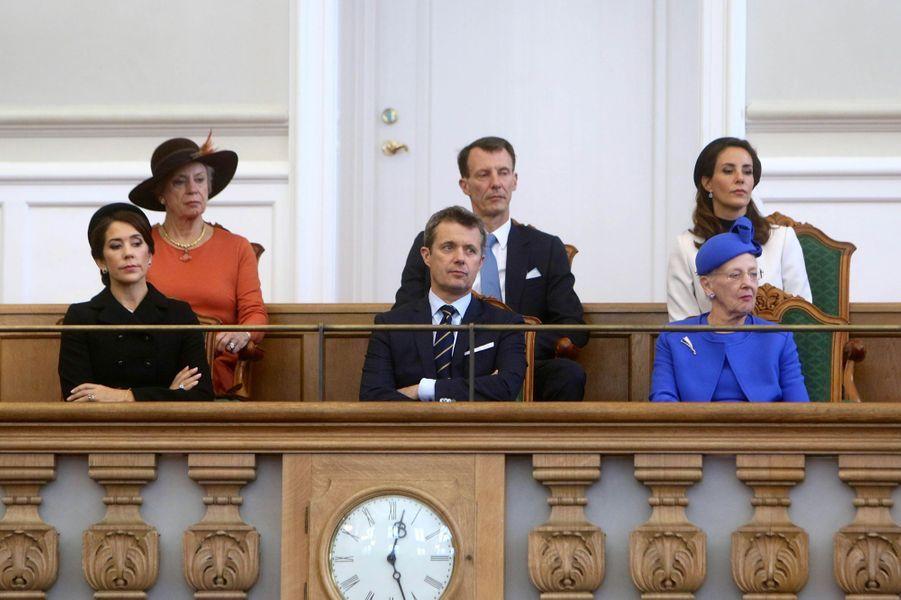 La famille royale de Danemark à Copenhague, le 2 octobre 2018