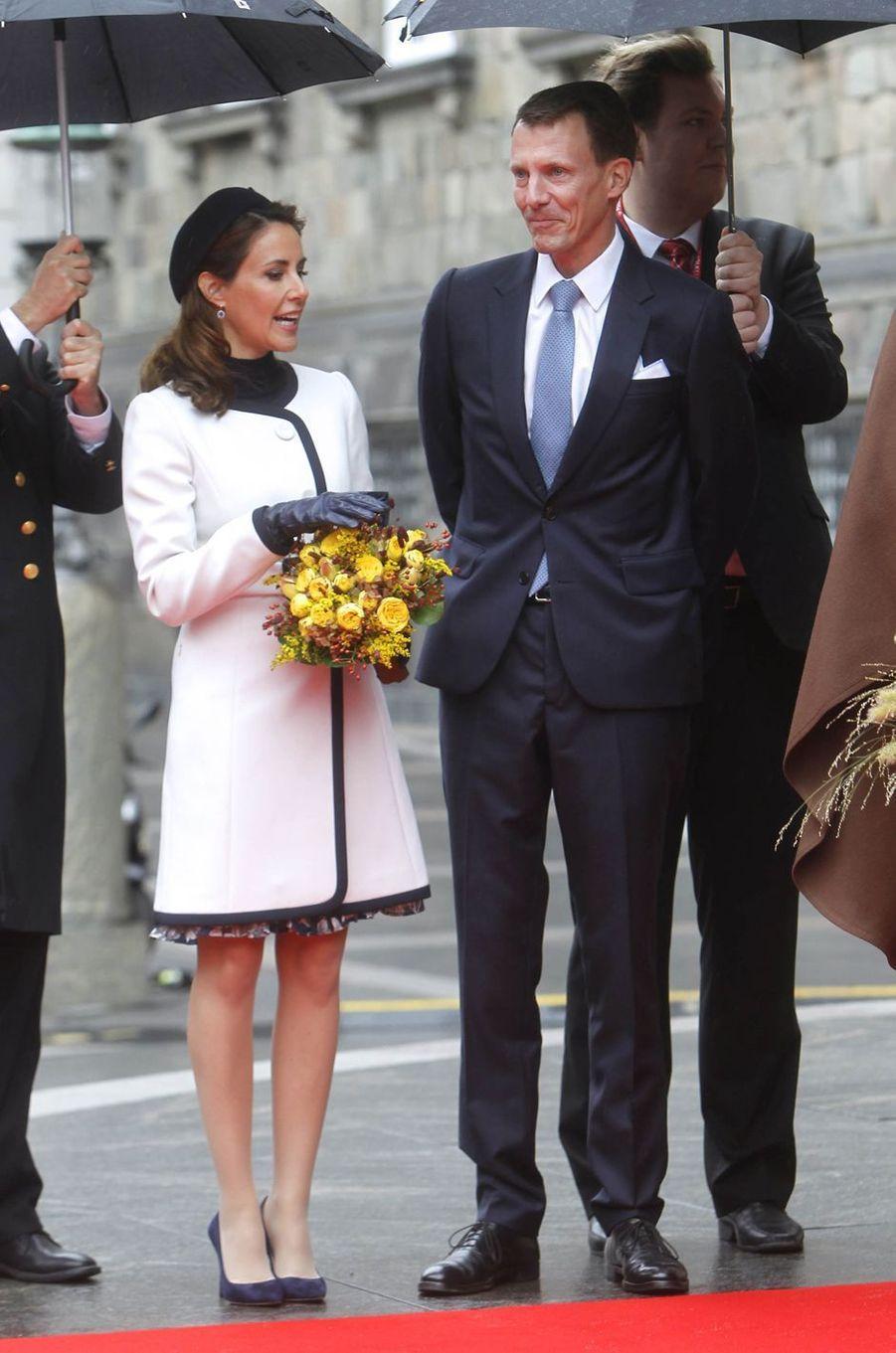 La princesse Marie et le prince Joachim de Danemark à Copenhague, le 2 octobre 2018