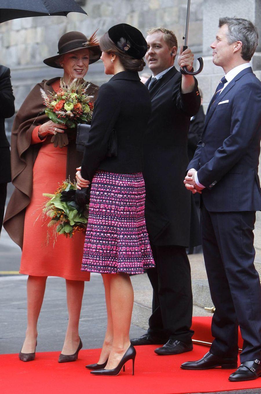 Les princesses Benedikte et Mary et le prince Frederik de Danemark à Copenhague, le 2 octobre 2018