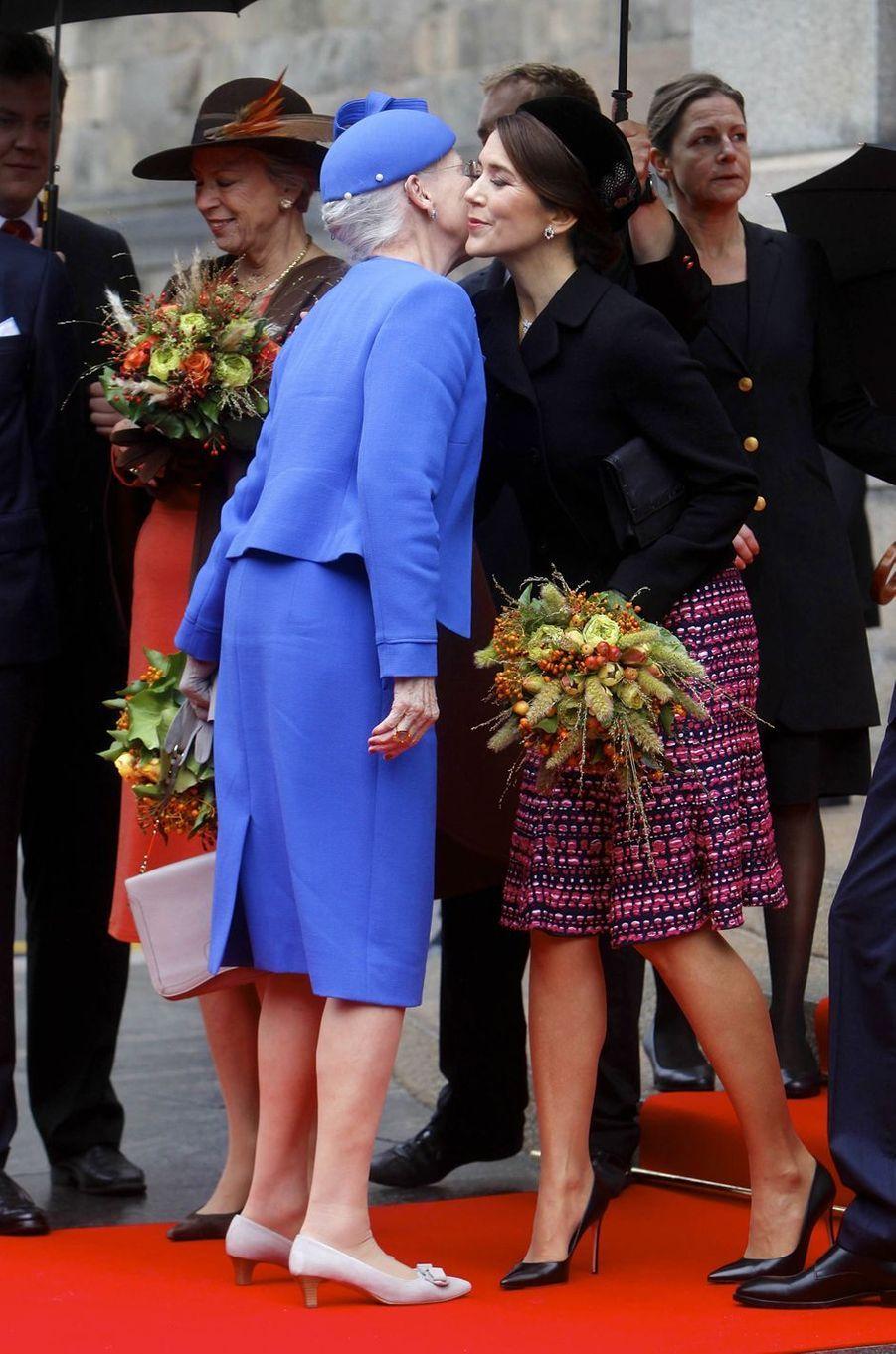 La reine Margrethe II de Danemark et la princesse Mary à Copenhague, le 2 octobre 2018