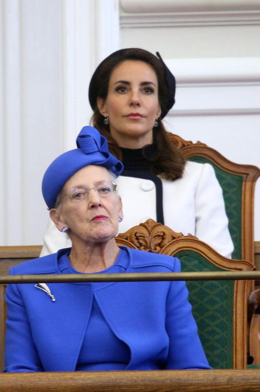 La reine Margrethe II de Danemark et la princesse Marie à Copenhague, le 2 octobre 2018
