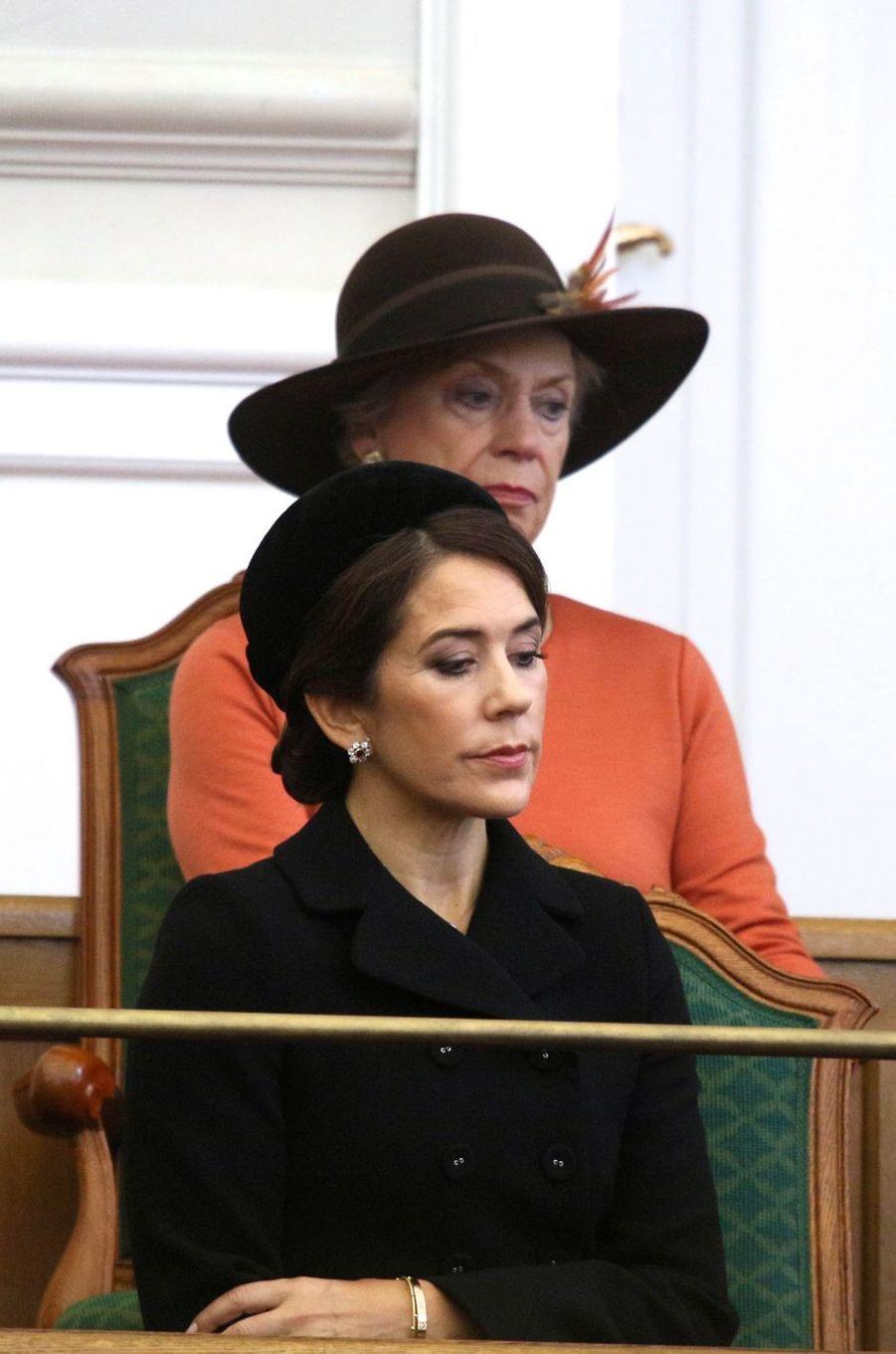 Les princesses Mary et Benedikte de Danemark à Copenhague, le 2 octobre 2018