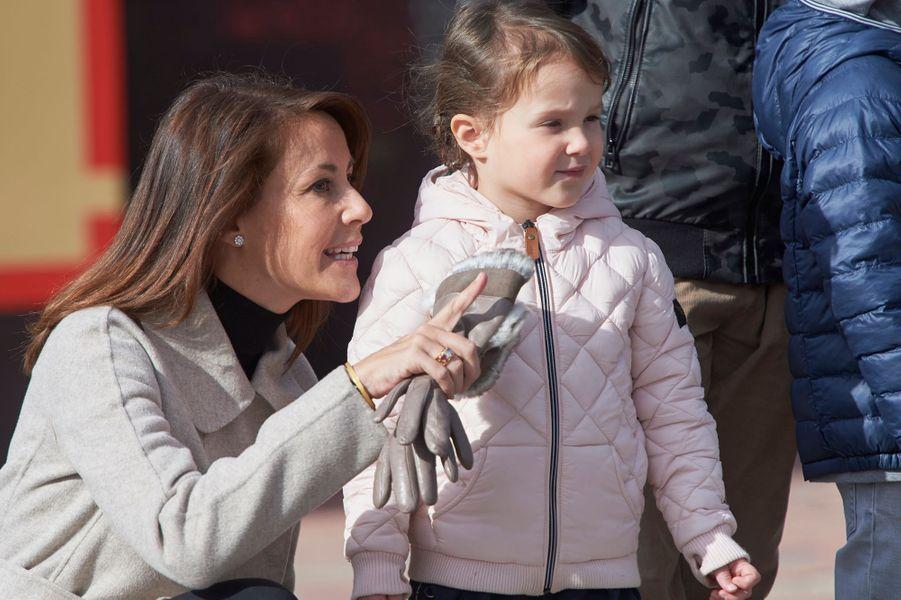 Les princesses Marie et Athena de Danemark au Legoland de Billund, le 19 mars 2016