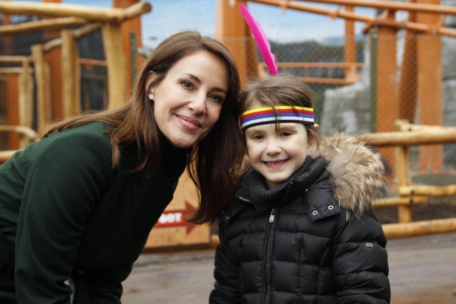 Les princesses Marie et Athena de Danemark au Legoland Billund, le 24 mars 2018