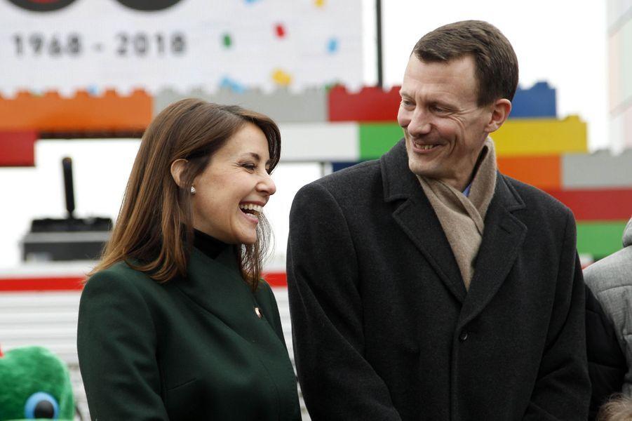 La princesse Marie et le prince Joachim de Danemark au Legoland Billund, le 24 mars 2018