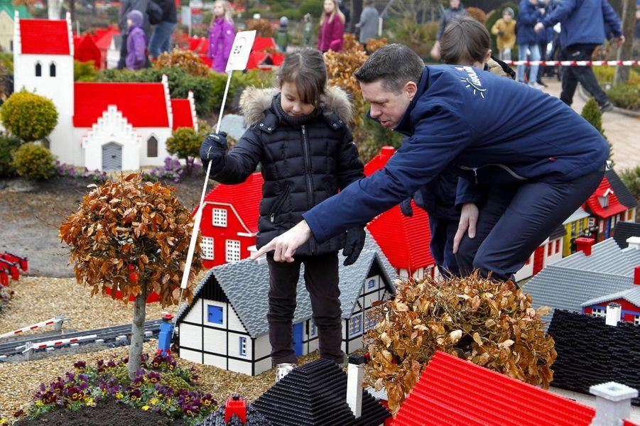 La princesse Athena de Danemark au Legoland Billund, le 24 mars 2018