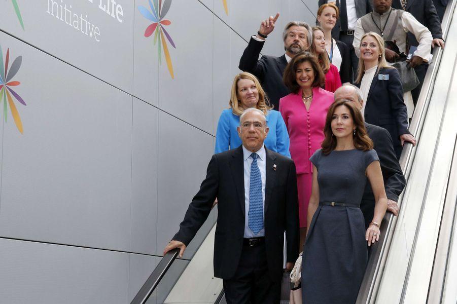 La princesse Mary de Danemark à l'OCDE à Paris, le 6 juin 2017