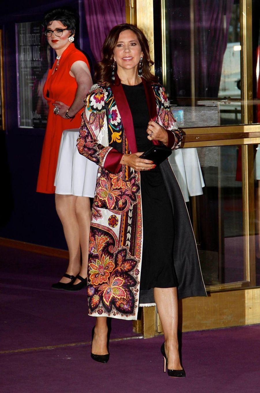 La princesse Mary de Danemark au Cirque à Copenhague, le 25 avril 2018