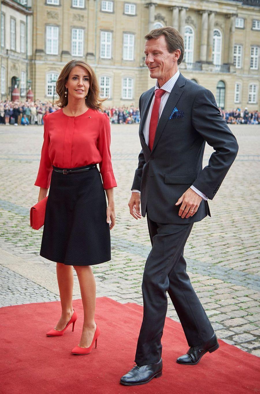 La princesse Marie et le prince Joachim de Danemark à Copenhague, le 28 août 2018