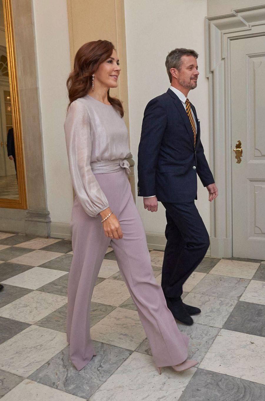 La princesse Mary avec le prince Frederik de Danemark à Copenhague, le 11 octobre 2019