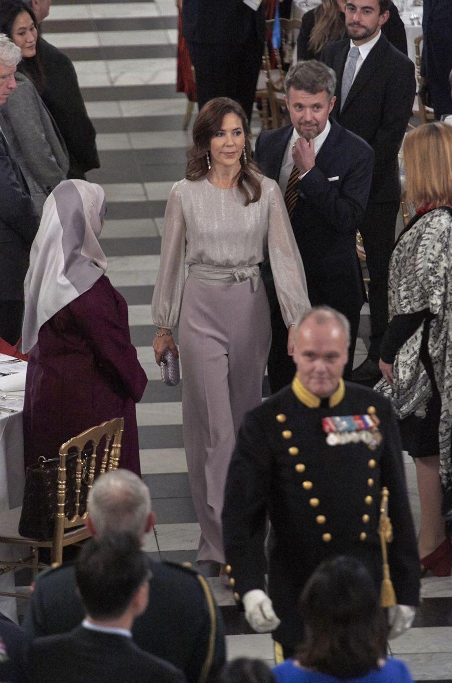 La princesse Mary et le prince Frederik de Danemark à Copenhague, le 11 octobre 2019