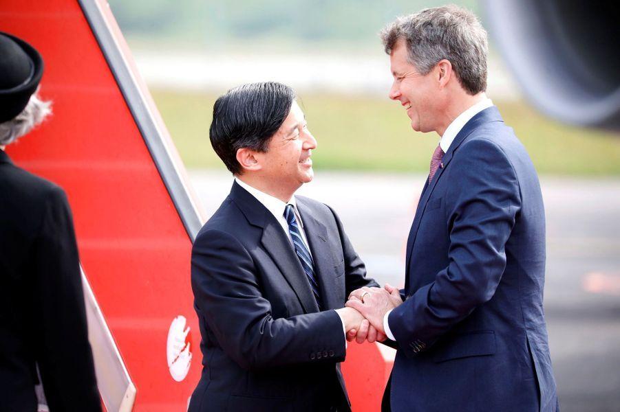 Le prince Frederik de Danemark accueille le prince Naruhito du Japon à Copenhague, le 15 juin 2017