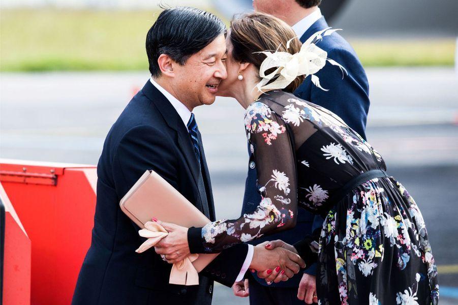 La princesse Mary de Danemark avec le prince Naruhito du Japon à Copenhague, le 15 juin 2017