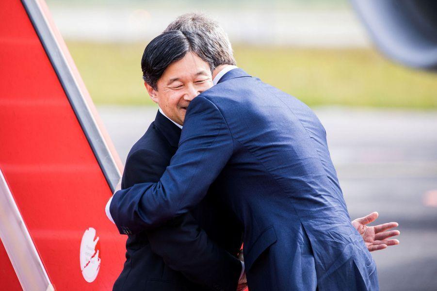 Le prince Frederik de Danemark avec le prince Naruhito du Japon à Copenhague, le 15 juin 2017