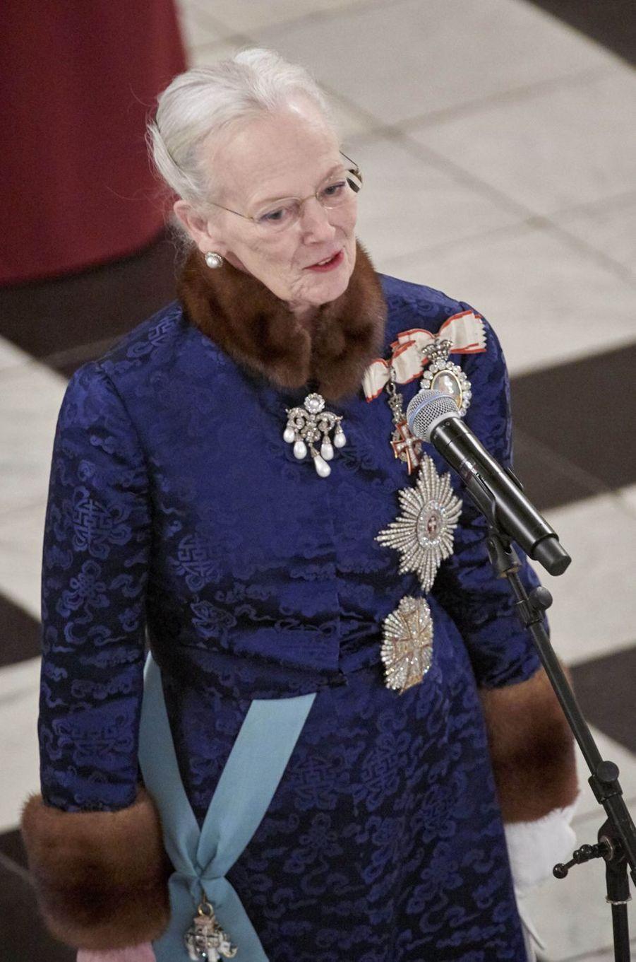 La reine Margrethe II de Danemark à Copenhague, le 3 janvier 2018
