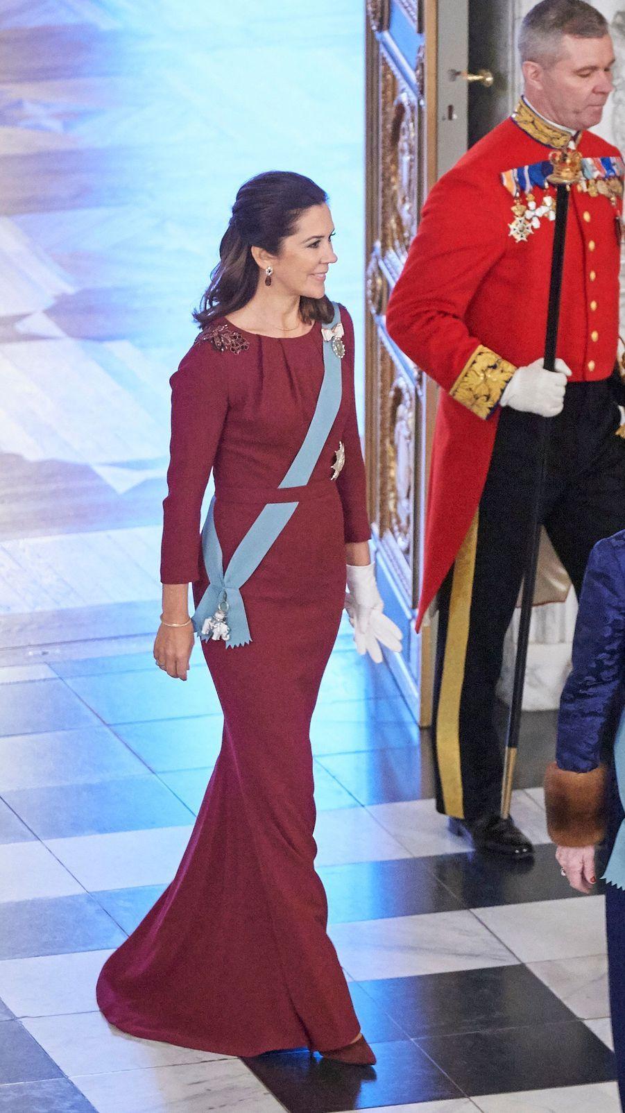 La princesse Mary de Danemark à Copenhague, le 3 janvier 2018