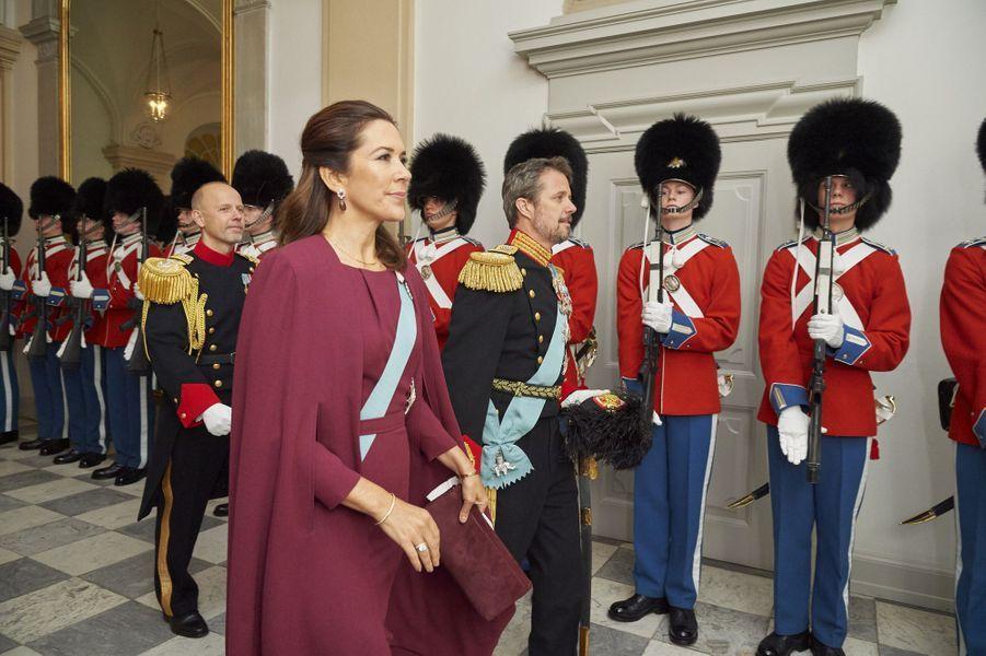 La princesse Mary et le prince Frederik de Danemark à Copenhague, le 3 janvier 2018