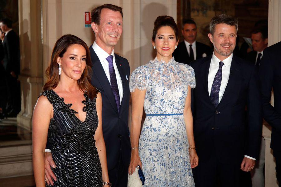 Les princesses Marie et Mary et les princes Joachim et Frederik de Danemark, le 8 octobre 2019 à Paris