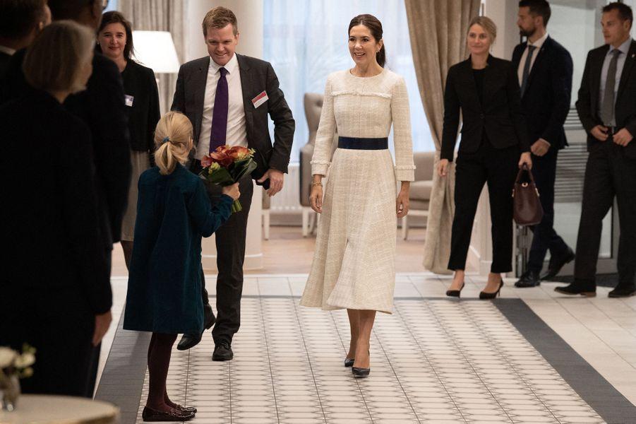 La princesse Mary de Danemark à Paris, le 8 octobre 2019