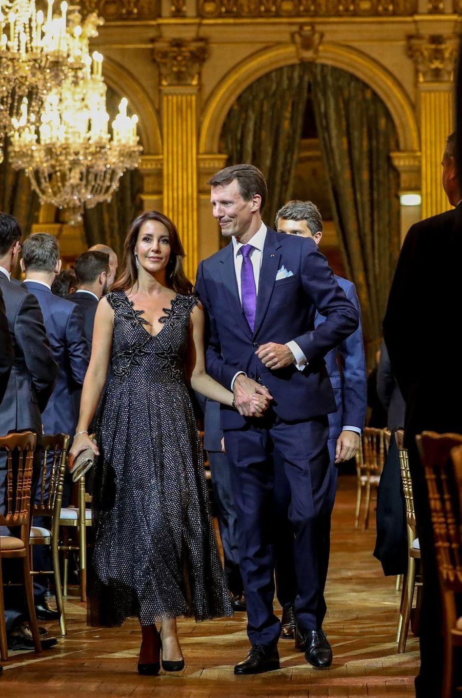 La princesse Marie et le prince Joachim de Danemark à Paris, le 8 octobre 2019