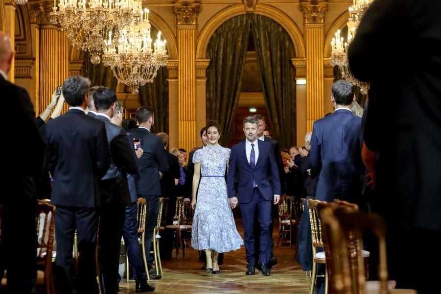 La princesse Mary et le prince Frederik de Danemark à Paris, le 8 octobre 2019