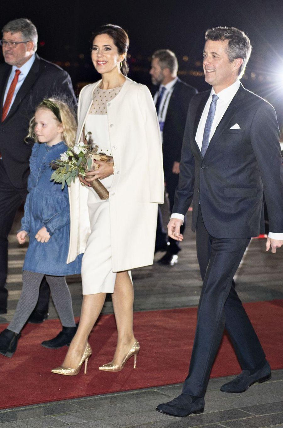 La princesse Mary et le prince Frederik de Danemark à Aalborg, le 24 novembre 2018