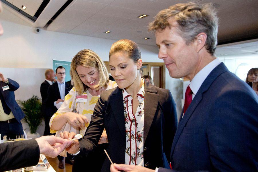 Le prince Frederik de Danemark avec la princesse Victoria de Suède à Stockholm, le 29 mai 2017