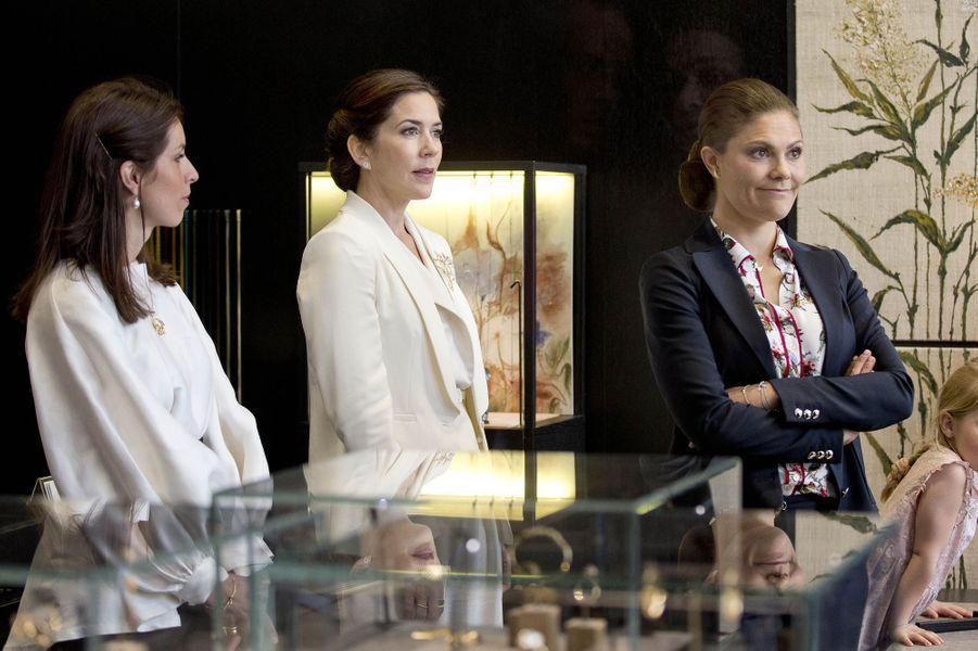 La princesse Mary de Danemark avec la princesse Victoria de Suède à Stockholm, le 29 mai 2017