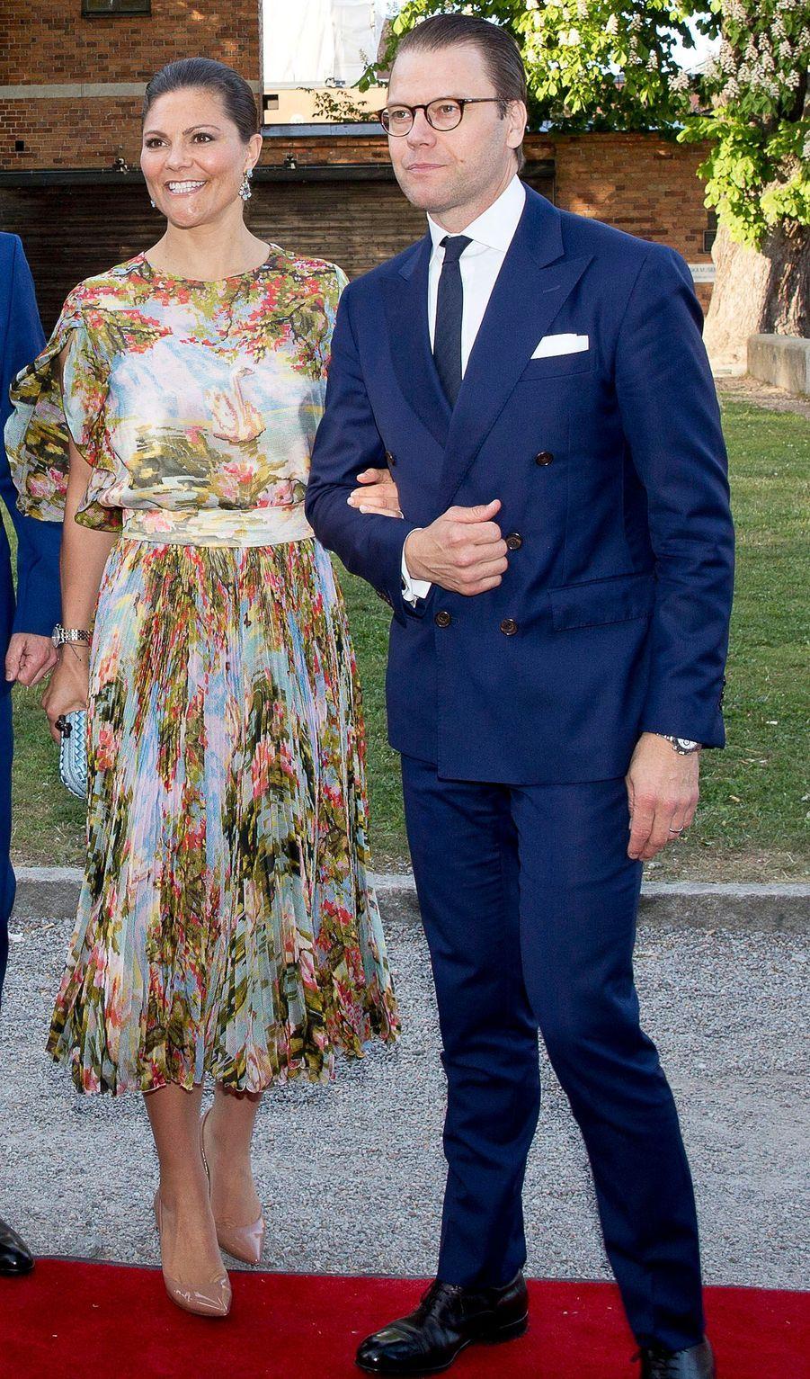 La princesse Victoria et le prince Daniel de Suède à Stockholm, le 29 mai 2017