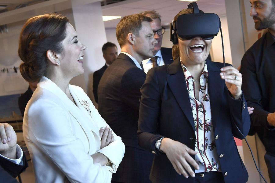 La princesse Mary de Danemark et la princesse Victoria de Suède à Stockholm, le 29 mai 2017