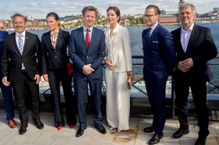 La princesse Mary et le prince Frederik de Danemark et la princesse Victoria et le prince Daniel de Suède à Stockholm, le 29 mai 2017