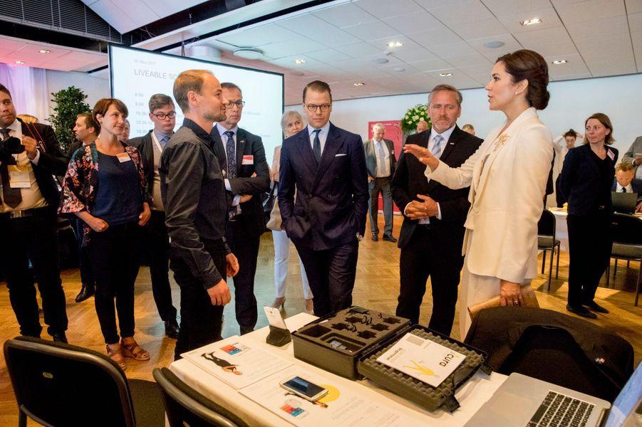 La princesse Mary de Danemark et le prince Daniel de Suède à Stockholm, le 29 mai 2017
