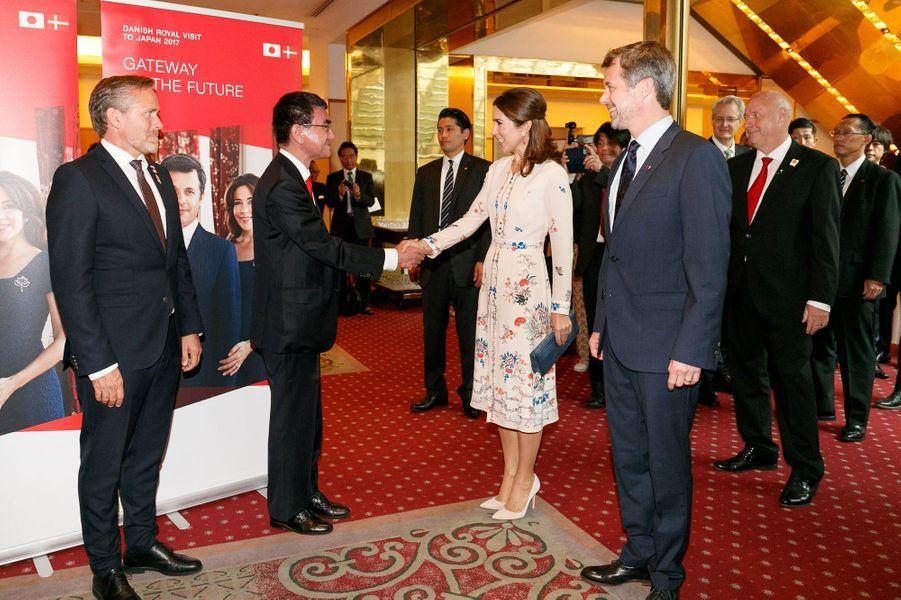 La princesse Mary et le prince Frederik de Danemark à Tokyo, le 11 octobre 2017