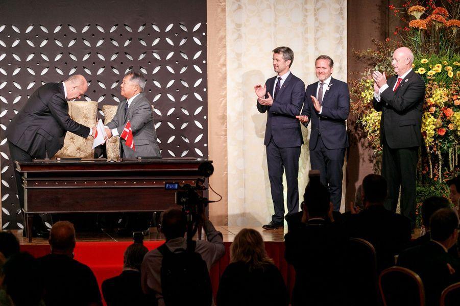 Le prince Frederik de Danemark à Tokyo, le 11 octobre 2017