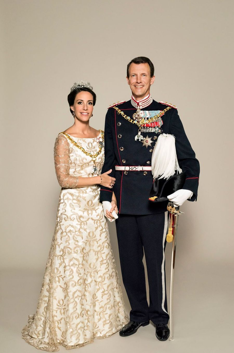 Le prince Joachim et la princesse Marie de Danemark. Photo diffusée le 7 juin 2018