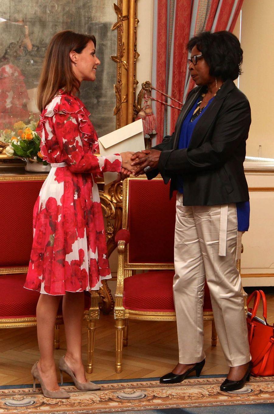 La princesse Marie de Danemark et l'écrivaine Scholastique Mukasonga à Copenhague, le 8 juin 2017