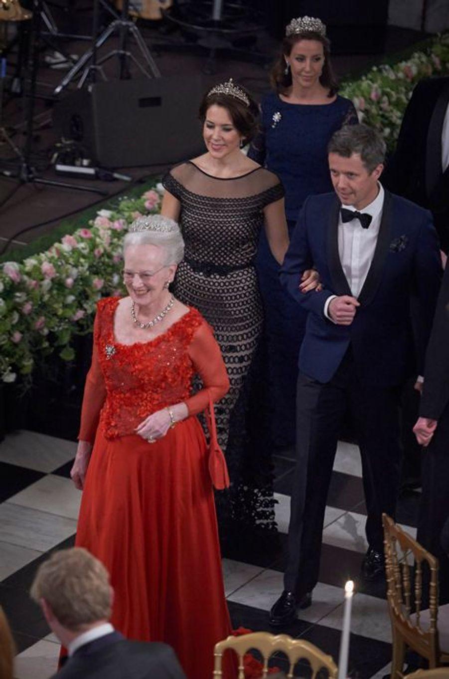 La famille royale de Danemark au château de Christiansborg à Copenhague, le 15 mars 2016