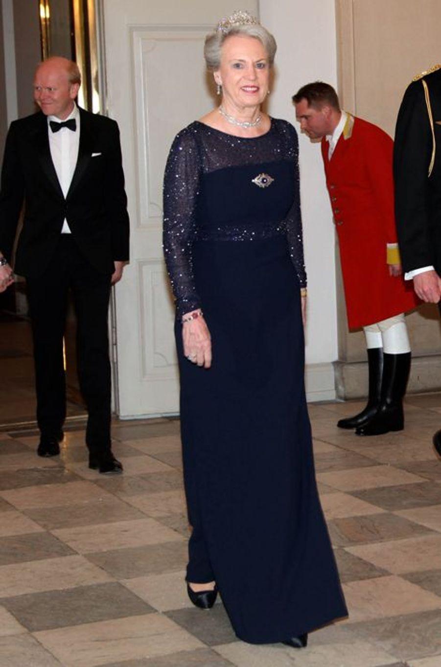 La princesse Benedickte de Danemark au château de Christiansborg à Copenhague, le 15 mars 2016