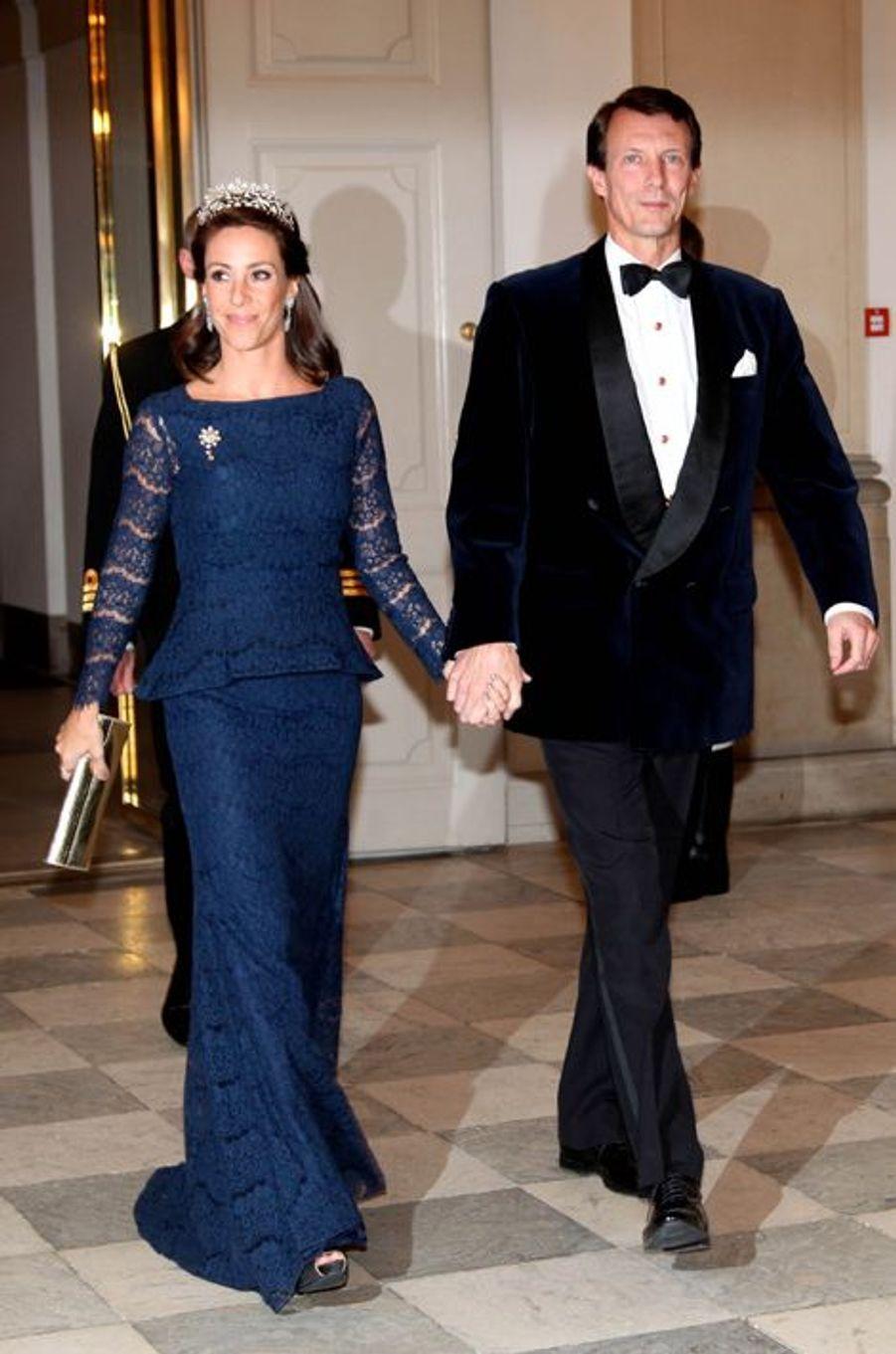 La princesse Marie et le prince Joachim de Danemark au château de Christiansborg à Copenhague, le 15 mars 2016