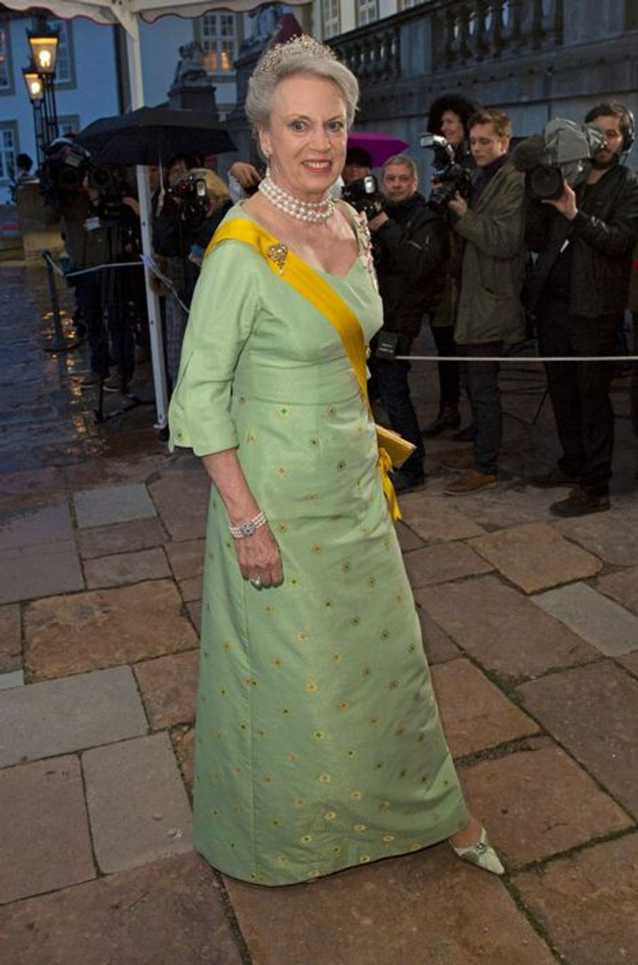 La princesse Benedikte de Danemark à Fredensborg, le 13 avril 2016