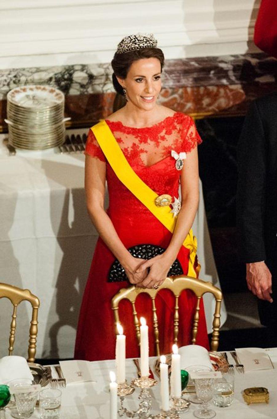 La princesse Marie de Danemark à Fredensborg, le 13 avril 2016