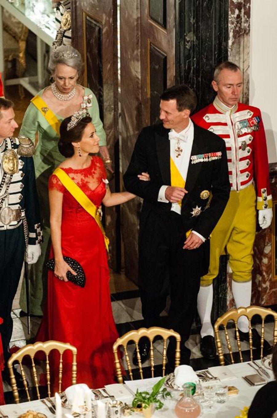 La princesse Marie et le prince Joachim de Danemark à Fredensborg, le 13 avril 2016