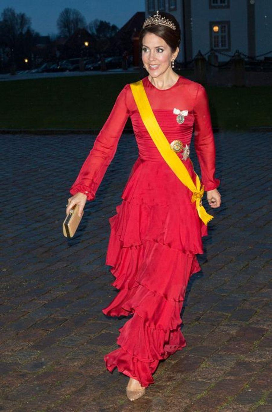 La princesse Mary de Danemark à Fredensborg, le 13 avril 2016