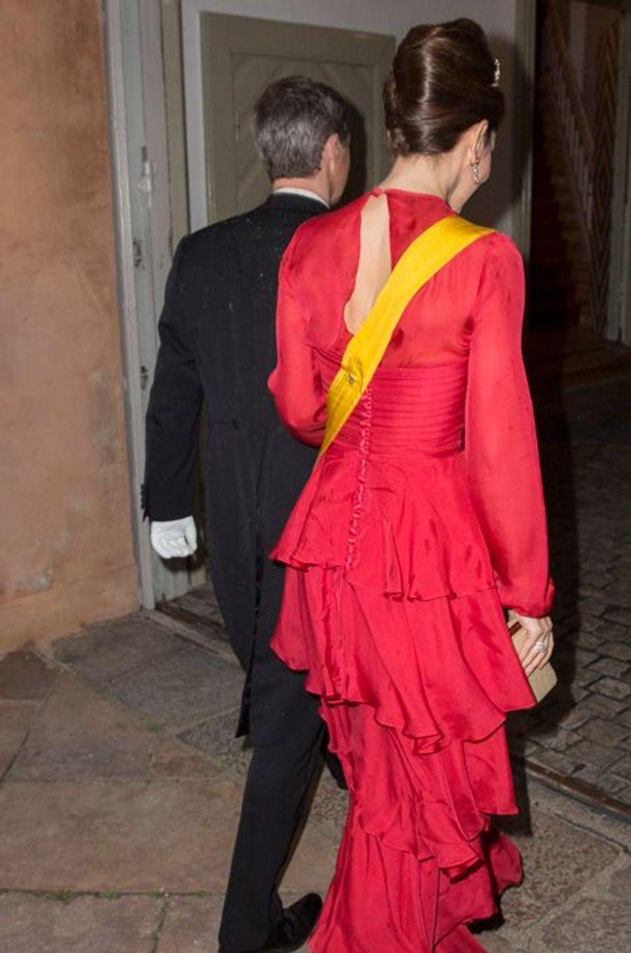 La princesse Mary et le prince Frederik de Danemark à Fredensborg, le 13 avril 2016